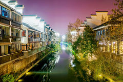 Buildings along the river. Scenic view of homes along the river in Fuzimiao Nanjing Stock Photography