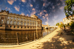 Buildings along Spree River in Berlin Stock Photography