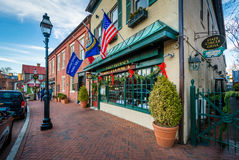 Buildings along State Circle, in Annapolis, Maryland. Stock Image