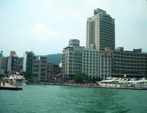 buildings along sun and moon lake Taiwan Royalty Free Stock Photography