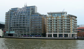 Buildings along Thames in London Stock Photo