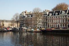Buildings in Amsterdam stock photo