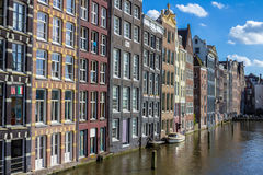 Buildings on an Amsterdam canal royalty free stock images