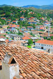 The buildings of the ancient city in Albania Royalty Free Stock Photo