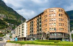 Buildings in Andorra la Vella Royalty Free Stock Images