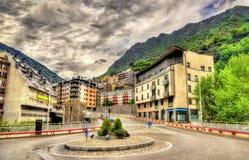 Buildings in Andorra la Vella Stock Photo