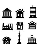Buildings and architectural icons Royalty Free Stock Images