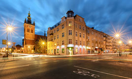 Buildings architecture in the old city of Gdansk Stock Photography