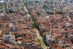 Buildings architecture, Grenoble Royalty Free Stock Image