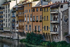 Buildings by the Arno River, Italy Royalty Free Stock Photo