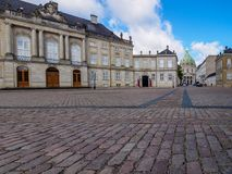Amalienborg and Fredericks Church Copenhagen Royalty Free Stock Photos