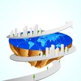 Buildings around Earth Stock Photos