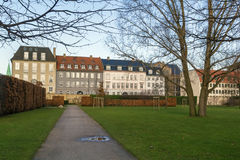 Buildings around the Rosenborg garden, Copenhagen Stock Photos