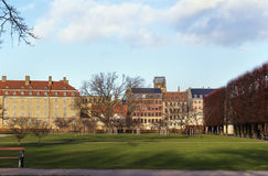 Buildings around the Rosenborg garden, Copenhagen Royalty Free Stock Photo