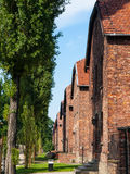 Buildings in Auschwitz concentration camp Royalty Free Stock Photos