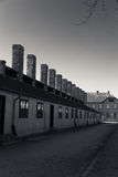 Buildings in Auschwitz Concentration Camp, Poland Stock Photo