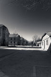 Buildings of Auschwitz Concentration Camp, Poland Royalty Free Stock Images