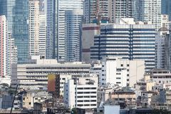 Buildings background of Bangkok metropolis Thailand. royalty free stock photography