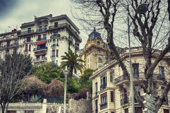 Buildings background from Nice,  France Royalty Free Stock Photos