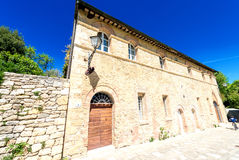 Buildings of Bagno Vignoni, Tuscany Stock Photography