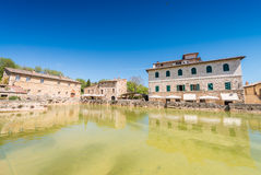 Buildings of Bagno Vignoni, Tuscany Stock Image