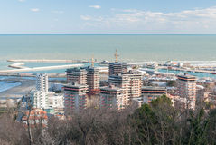 Buildings in Baia Flaminia, district of Pesaro Royalty Free Stock Photo