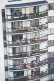 Buildings balconies Royalty Free Stock Photos