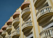 Buildings with balconies Stock Photo