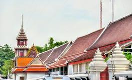Buildings in Bangkok near the Wat Pho temple. Thailand Stock Photo