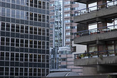 Buildings in Barbican. Buildings making interesting patterns in Barbican, London Stock Photo