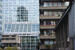 Buildings in Barbican, London Royalty Free Stock Images