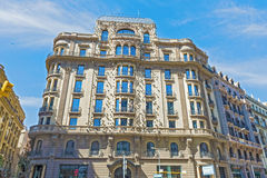 Buildings in Barcelona, Spain Royalty Free Stock Photography
