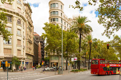 Buildings in Barcelona, Spain Royalty Free Stock Images