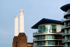 Buildings in Battersea Royalty Free Stock Images