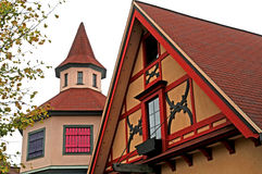 Buildings in bavarian style architecture Royalty Free Stock Image