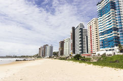 Buildings on the beach Royalty Free Stock Photos