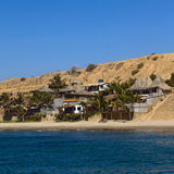 Buildings on Beach in Mancora, Peru Royalty Free Stock Photos