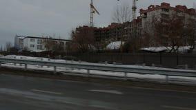 Buildings behind the bridge stock footage