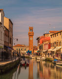 Buildings and the Bell Tower in Murano Royalty Free Stock Photos