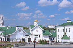 Buildings belonging to the Orthodox Holy Spirit Cathedral in Minsk. Belarus stock photo