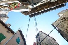 Buildings from below in Rovinj Stock Photos