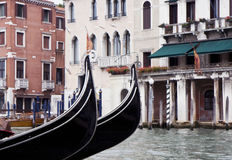 Buildings on the big canal in Venice Stock Photos