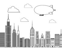 Buildings of big city design Stock Image