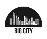 Buildings of big city design Royalty Free Stock Photos