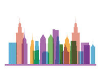 Buildings of big city design Stock Images