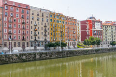Buildings in Bilbao city Royalty Free Stock Image