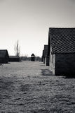 Buildings in Birkenau Concentration Camp, Poland Stock Photos