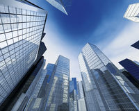 Buildings blue skyline Royalty Free Stock Photography