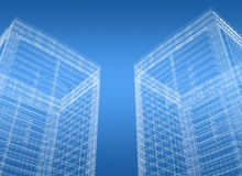 Buildings blueprint Stock Image