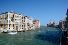 Buildings and boats on canal in Venice, Italy Royalty Free Stock Photography